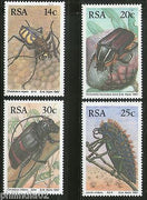 South Africa 1986 Maltese Cross Insects Beetles Wildlife Sc 678-81 MNH # 4283