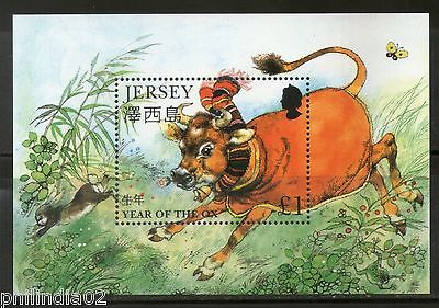 Jersey 1997 Chinese New Year of the OX Zodiac Sign Animal M/s Sc 777 MNH # 5037