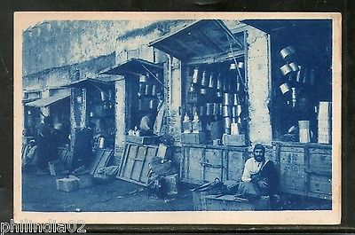 Morocco Meknes Street Seller Shops View / Picture Post Card # PC104