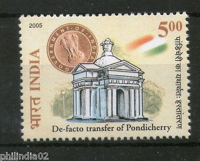 India 2005 De Facto Transfer Pondicherry Phila-2161 MNH