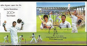 India 2013 Sachin Tendulkar Cricket Player Sports M/s on FDC