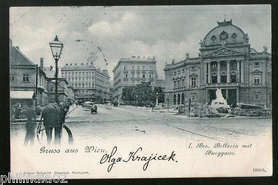 Austria 1901 Opera House Wien Vienna Vintage Picture Post Card to France # PC16