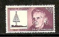 India 1968 Marie Curie Phila-472 1v MNH