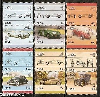 Nevis 1985 Motor Cars Automobile Transport 12v MNH