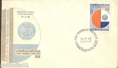 India 1968 First Triennale Art Phila-462 FDC