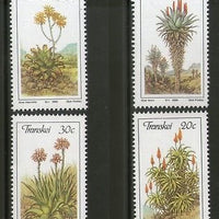 Transkei 1986 Aloes Flower Trees Plants Flora Sc 171-74 MNH # 4026