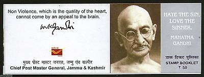 India 2012 Mahatma Gandhi - Hate the Sin... Jammu & Kashmir Stamp Booklet # 3721