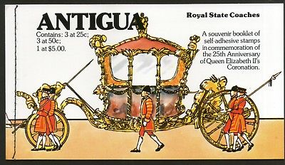 Antigua 1977 Royal Silver Jubilee Queen Elizabeth II Booklete Sc 514 MNH # 6428