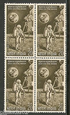 India 1969 First Man on the Moon Space Phila-499 BLK/4 MNH