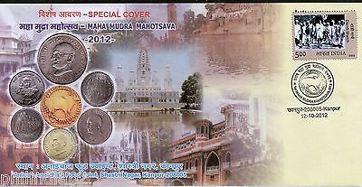 India 2009 Mahatma Gandhi Maha Mudra Mahotsava Currency Coin Special Cover #7213