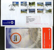 New Zealand 2007 Landscap Beaches Mountain Waterfall Ship Used FDC to India 6669