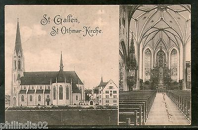 Switzerland 1908 St. Othmar Church St. Gallen Architect View Post Card # 1454-3