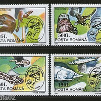 Romania 1994 Birds Snake Fish Wildlife Animals Fauna Sc 3939-42 MNH # 4068