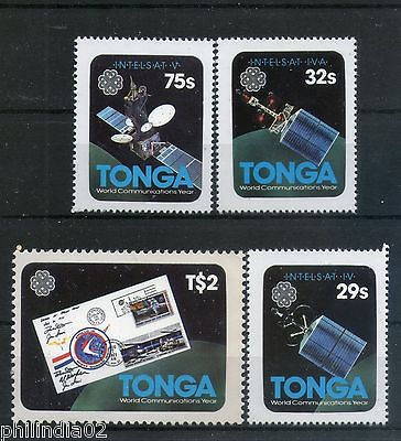 Tonga 1983 World Communications Year Satellite Space Sc 545-48 MNH # 3011