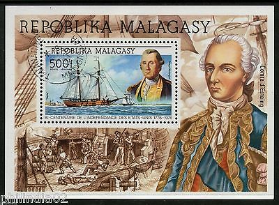 Malagasy 1976 George Washington Ships S/s Cancelled # 5859