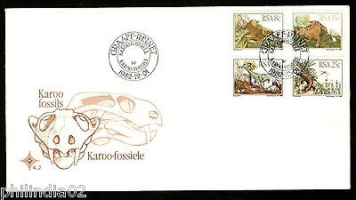 South Africa 1982 Dinosaurs Pre Historic Animal Wildlife Sc 606-9 FDC # 16066