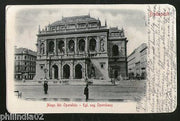 Hungary 1901 Budapest Great Opera House View Picture Post Card to Finland #157