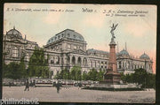 Austria 1907 Vienna University Building View Picture Post Card to Portugal # 143