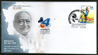 India 2009 Cricket Padmashree Jasu Patel Indian Bowler Sports Sp. Cover # 18431