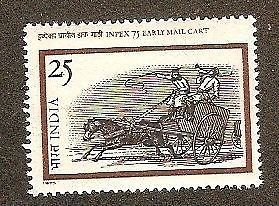 India 1975 Inpex 75 Early Mail Cart Phila-672 MNH