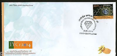 India 2014 International Year of Crystallography Gems FDC
