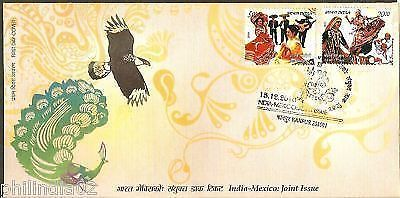 India 2010 Joint Issue - Mexico Costume Dance Phila-2659-60 FDC