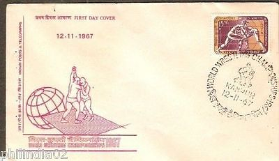 India 1967 World Wrestling Championships Phila-453 FDC