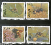Venda 1992 Honey Bees Insect Fauna Wildlife Animals Flower Sc 241-44 MNH # 3465