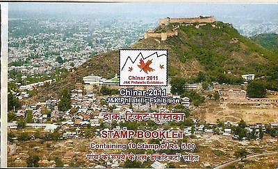India 2011 Hari Parbat Fort CHINAR- J & K Philatelic Exhibition Stamp Booklet