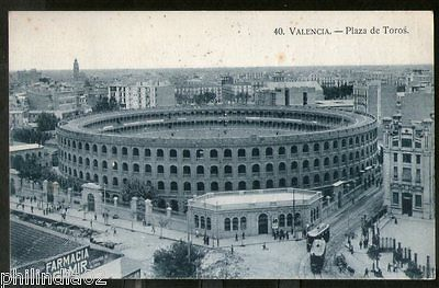 Spain 1928 Valencia Bull Fight Ring Architecture View Picture Post Card # 223