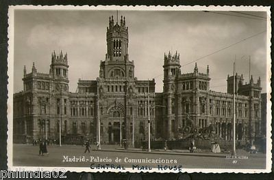 Spain Madrid Architecture Central Mail House Finland View Picture Post Card #195