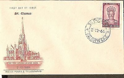 India 1964 St. Thomas Cathedral Phila-409 FDC