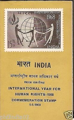 India 1968 International Year for Human Rights Phila-457 Cancelled Folder