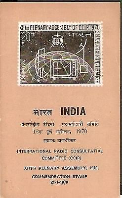 India 1970 Plenary Radio Consultative Assembly Phila-504 Cancelled Folder