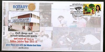 India 2015 Rotary Club Eye Hospital Health Cleft Palate Surgery Sp. Cover 18308