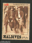 Maldives 1992 The Great Western Movies Sc 1824h Stars Cinema Film Actor MNH