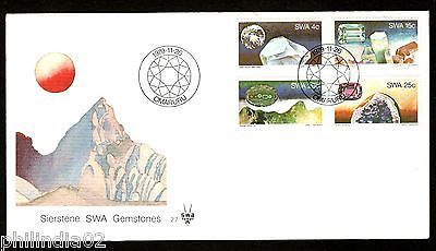 South West Africa 1979 Prescious Gemstone Minerals Jewellery Sc 433-6 FDC #16280