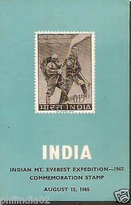India 1965 Indian Mt. Everest Expedition Phila-419 Cancelled Folder