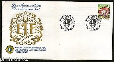 South Africa 1981 Lion's International  Club Convention Special Cover # 16306
