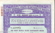 India 1985 West Bengal State Electricity Bonds 3rd Series Rs. 10000 # 10345Q