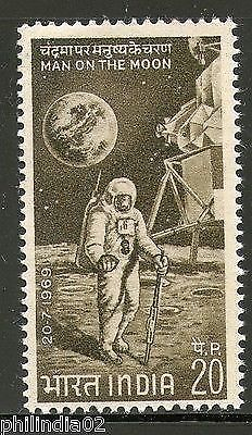 India 1969 First Man on the Moon Space Phila-499 1v MNH
