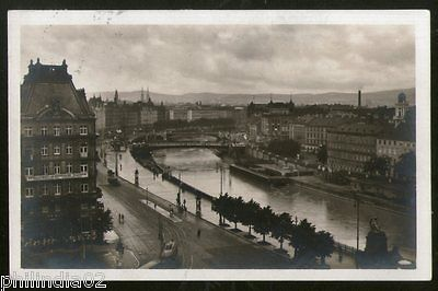 Austria 1929 Vienna Telephone Office River View Picture Post Card to Finland #15
