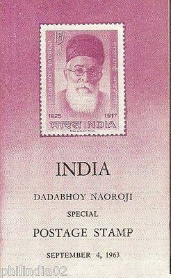 India 1963 Dadabhoy Naoroji Phila-386 Cancelled Folder