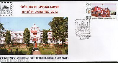 India 2012 Head Post Office Building Agra Taj Mahal Agrapex Special Cover #18250