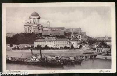 Hungary 1928 Esztergom Basilica Riverside View Picture Post Card to Finland #203