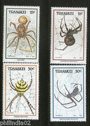 Transkei 1987 Spiders Insect Wildlife Animals Fauna Sc 191-94 MNH # 2973