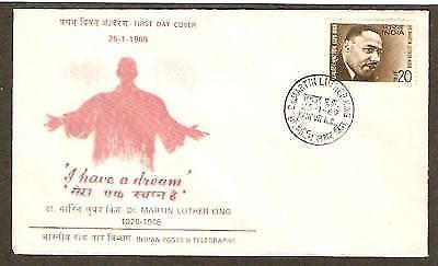 India 1969 Dr. Martin Luthar King Phila-482 FDC