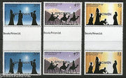 St. Vincent Grenadines 1984 Christmas Celebration SPECIMEN Gutter Pair MNH #4064