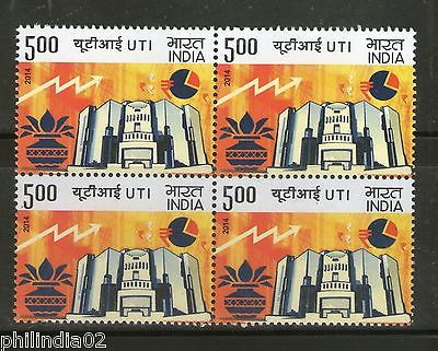 India 2014 Unit Trust of India Years of Pioneering Wealth Creation Blk/4 MNH