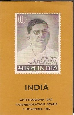 India 1965 Chittaranjan Das Phila-422 Cancelled Folder